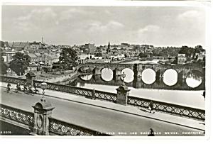 Dumfries Scotland Old Bridge Real Photo Postcard p8140 (Image1)