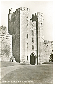 Warwick CastleThe Clock Tower Real Photo Postcard p8141 (Image1)