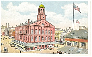 Boston MA Faneuil Hall Postcard p8165 1932 (Image1)