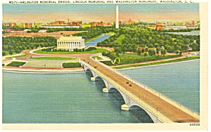 Washington,DC, Lincoln Memorial and Bridge Postcard (Image1)