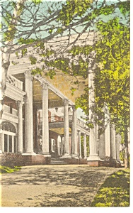 Luray, VA, The Mimslyn Hotel, Entrance Postcard Handcol (Image1)