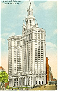 New York City, NY, Municipal Building Postcard (Image1)
