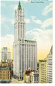 New York City NY Woolworth Building Postcard p8204 1913 (Image1)