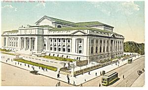 New York City  NY Public Library Trolley Postcard p8210 1914 (Image1)