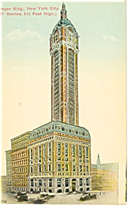New York City NY Singer Building Postcard p8226 (Image1)
