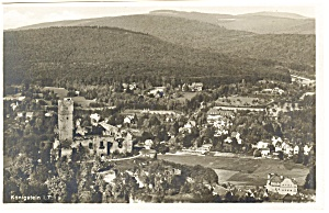 Konigstein Germany Aerial View Of The City Postcard P8246