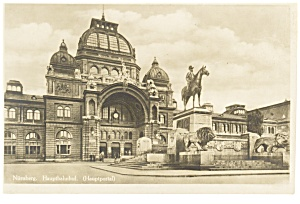 Nurnberg, Germany The Main Railroad Station Postcard