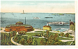 New York City, NY, Aquarium and  Harbor Postcard (Image1)