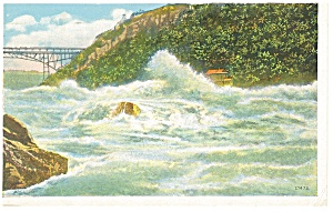 Wave in the Whirlpool Rapids Niagara Falls Postcard p8294 (Image1)