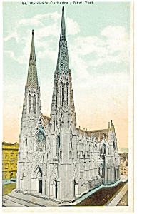 New York City St Patrick S Cathedral Postcard P8295