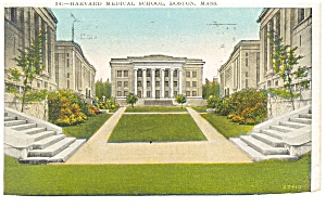 Boston MA Harvard Medical School Postcard p8312 1929 (Image1)