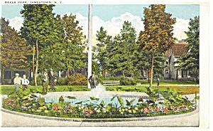 Jamestown NY Baker Park Postcard p8318 1927 (Image1)