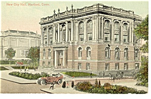 Hartford, CT, New City Hall Postcard (Image1)