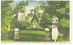 Nova Scotia Evangeline Memorial Church Postcard P8345 1941