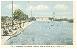 Sunnyside Beach Toronto Canada Swimming Pool Postcard p8349 (Image1)