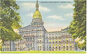 Lansing, MI, State Capitol  Postcard (Image1)