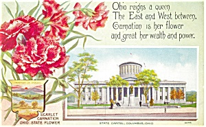 Columbus, OH, State Capitol, State Flower Postcard (Image1)