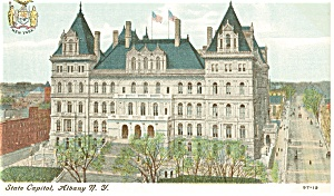 Albany New York State Capitol Postcard p8376 (Image1)