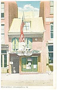 Philadelphia PA Betsy Ross House Postcard p8391 (Image1)