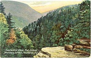 Kaaterskill Clove and Lookout Mt Postcard p8393 (Image1)