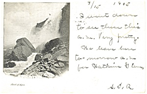 Niagara Falls, Rock of Ages Postcard 1905 (Image1)