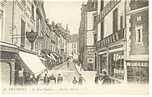 Chaumont,France, Pasteur Street, Streetscape Postcard (Image1)