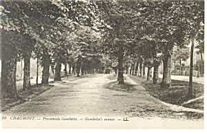 Chaumont,France, Gambetta's Avenue Postcard (Image1)