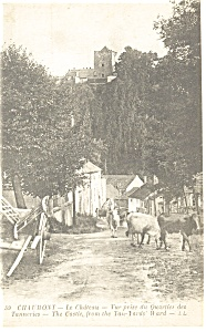 Chaumont France The Castle From Tan Yards Postcard p8410 (Image1)
