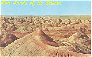 Badlands of South Dakota Postcard 1963 (Image1)
