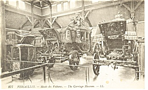 Versailles France The Carriage Museum Postcard p8425 (Image1)