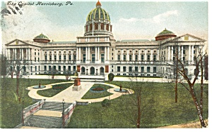 Pennsylvania State Capitol Postcard ca 1912 (Image1)