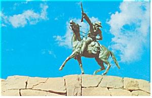 Buffalo Bill Statue Cody WY Postcard p8442 (Image1)