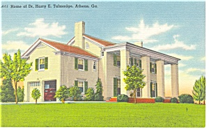 Athens, GA, Beautiful Home Linen Postcard (Image1)