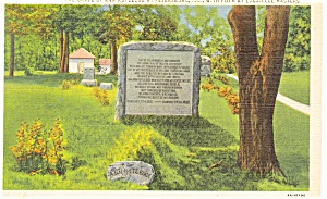 Petersburg, IL, Grave of Ann Rutledge Postcard (Image1)
