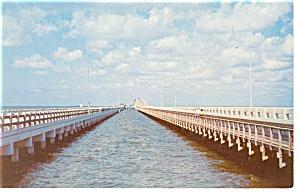 Tampa Bay Florida Twin Gandy Bridges Postcard p8470 (Image1)