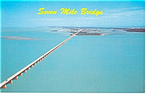 Seven Mile Bridge Florida Overseas Hwy Postcard p8471 (Image1)