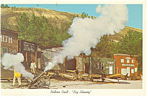 Stone Mountain GA Indian Raid Big Shanty Postcard p8479 (Image1)