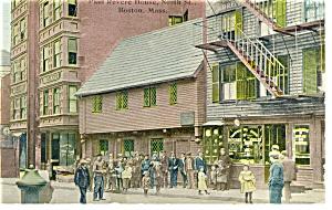 Boston MA Paul Revere House Postcard p8498  ca1910 (Image1)