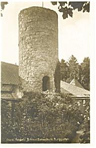 Frank Schweiz Castle Rabenstein Garden Postcard (Image1)