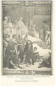 Cabanel Saint Louis abolishes the Judiciary Postcard p8506 (Image1)