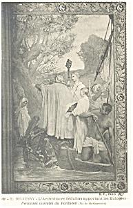 E.Delaunay L Archidiacre Sedulius Postcard p8507 (Image1)