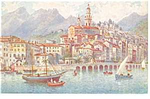 Menton France Tuck Oilette Postcard p8513 (Image1)