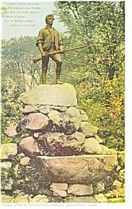 Statue of Capt Parker Lexington MA p8514 Detroit Postcard (Image1)