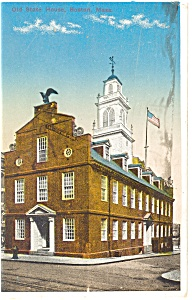 Boston MA Old State House Postcard p8532 1915 (Image1)