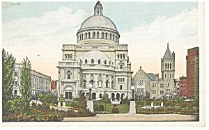 Boston MA  Christian Science Church Postcard p8533 (Image1)