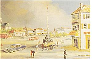 Morris Katz Artwork Paris in June Postcard p8545 (Image1)