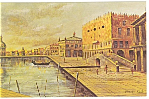 Morris Katz Artwork December in Venice Postcard p8548 (Image1)