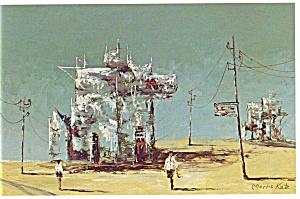 Morris Katz Artwork Fantasy Island Postcard p8550 (Image1)