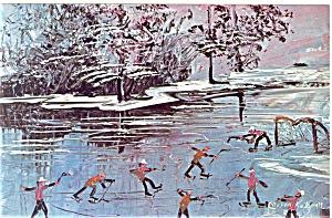 Morris Katz Artwork Pan Am Olympics Hockey Postcard p8557 (Image1)