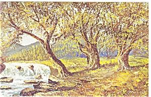 Morris Katz Artwork Waterfall Postcard p8558 (Image1)